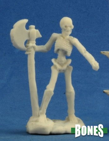 Skeleton Warrior Axeman (3): Bones RPR 77243