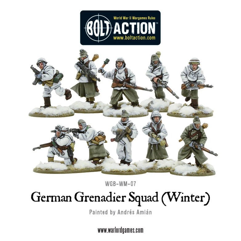 German Grenadiers in Winter Clothing: Bolt Action WLG 402212002