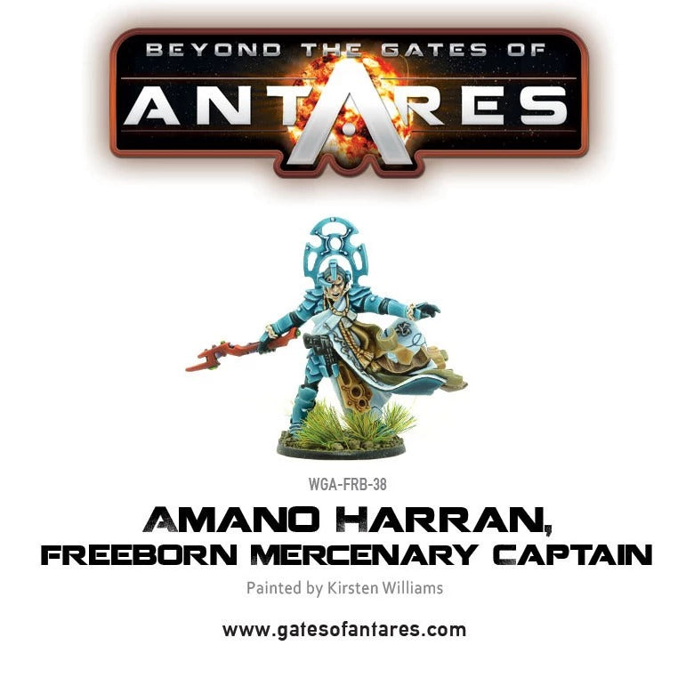 Amano Harran, Freeborn Mercenary Captain: Beyond the Gates of Antares WLG WGA-FRB-38