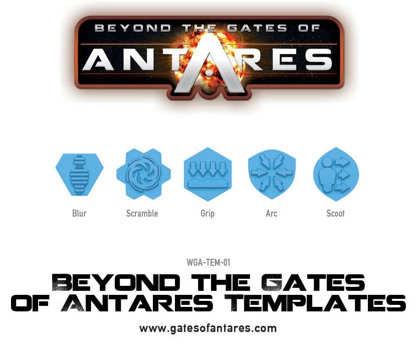 Beyond the Gates of Antares Templates: Warlord Games WLG WGA-TEM-01