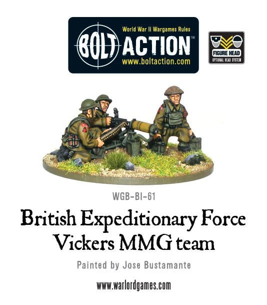 BEF Vickers MMG Team: Bolt Action WLG WGB-BI-61