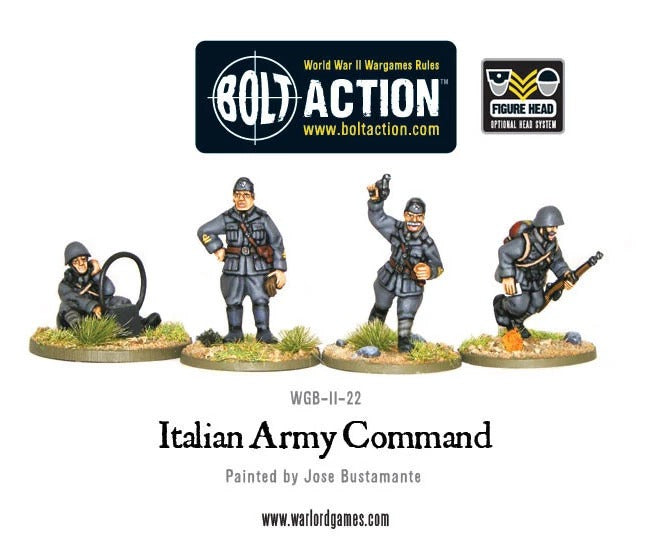 Italian Army Command: Bolt Action - Warlord Games	Italian Army WLG WGB-II-22