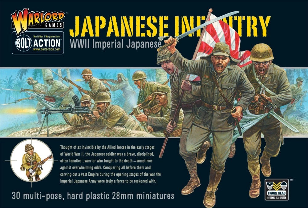 Imperial Japanese Infantry Plastic Boxed Set: Bolt Action WLG WGB-JI-02