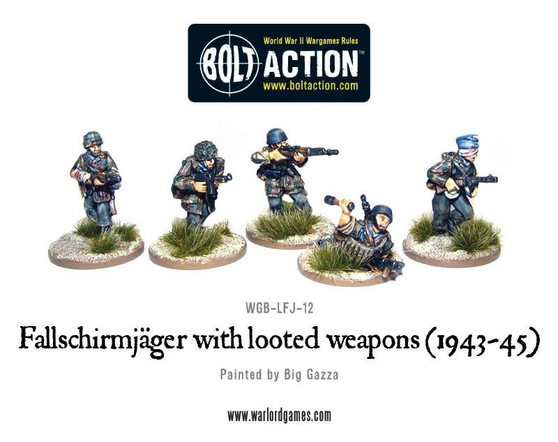 Fallschirmjager with Looted Weapons (1943-45): Bolt Action WLG WGB-LFJ-12