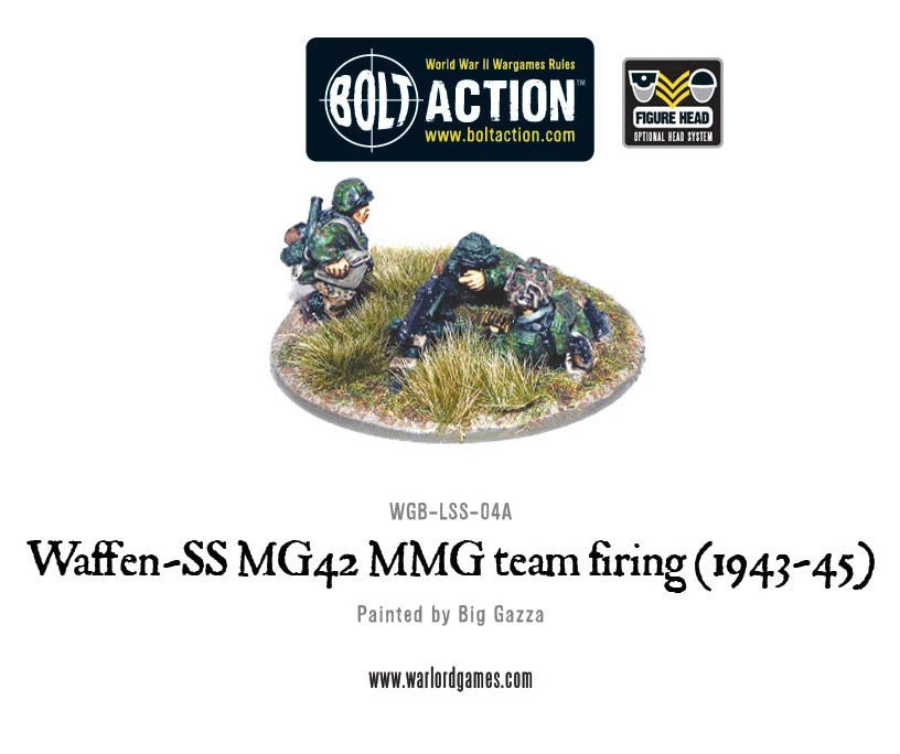 Waffen-SS MG42 MMG Team Firing (1943-45): Bolt Action WLG WGB-LSS-04