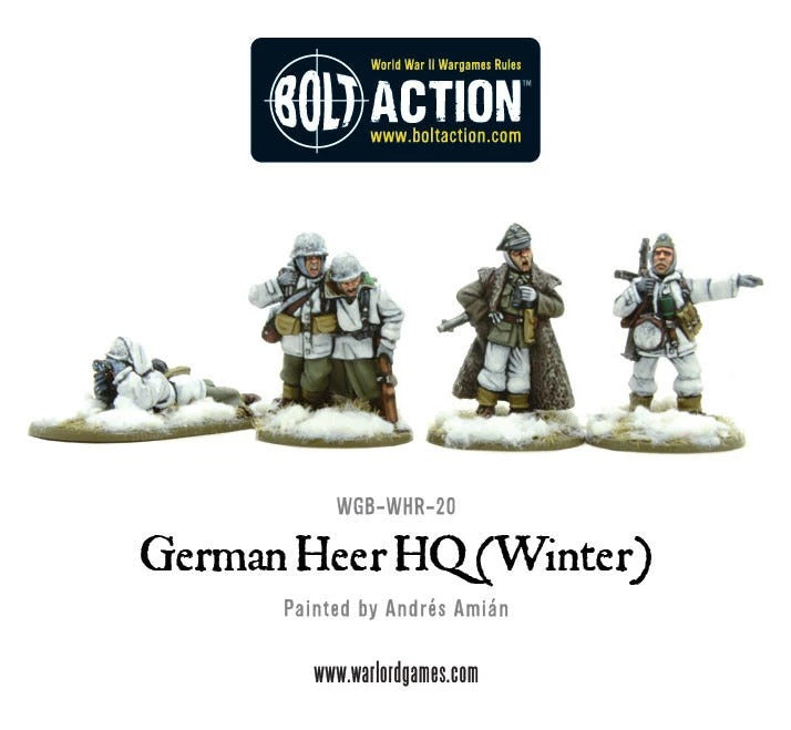 German Heer HQ (Winter): Bolt Action WLG WGB-WHR-20