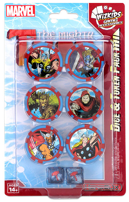 The Mighty Thor Dice and Token Pack: Marvel HeroClix WZK 72685