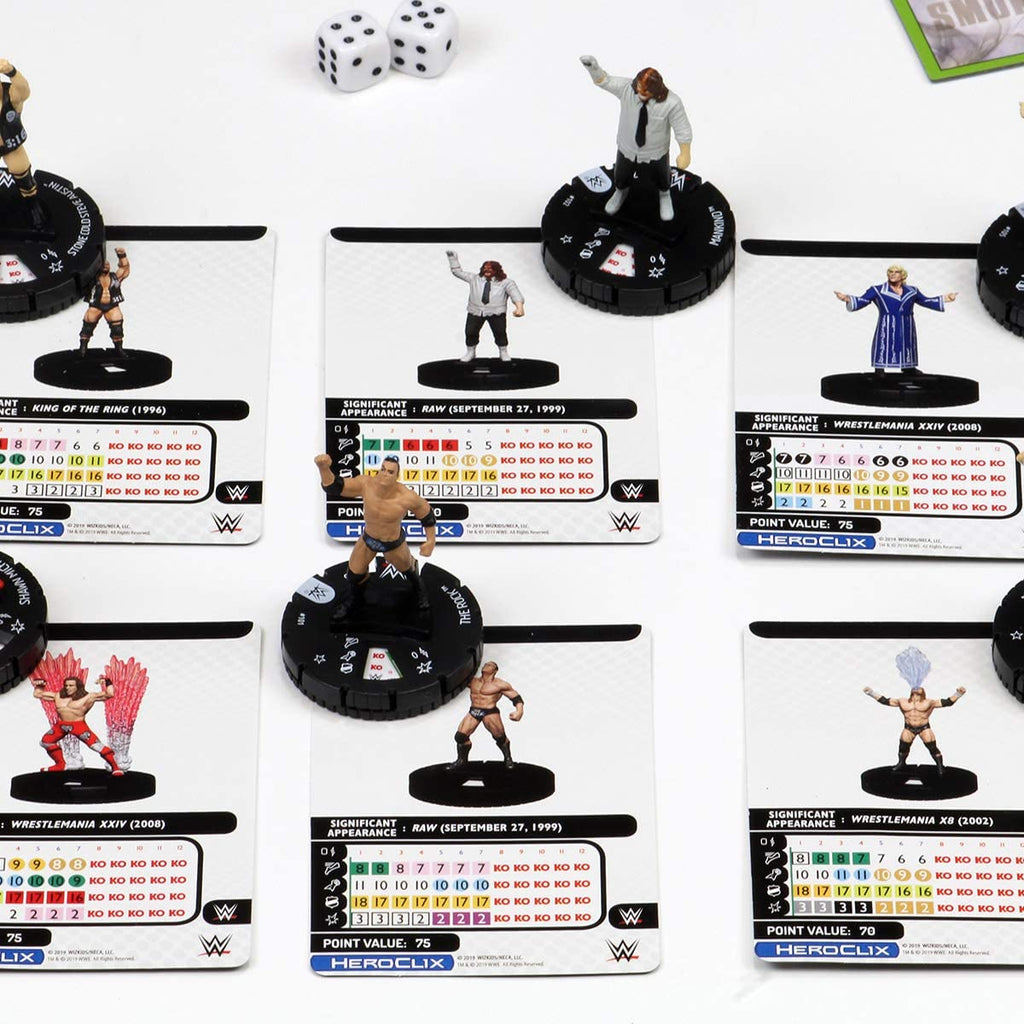 Rock 'N' Sock Connection! (2 Player Starter Set): WWE HeroClix WZK 73927
