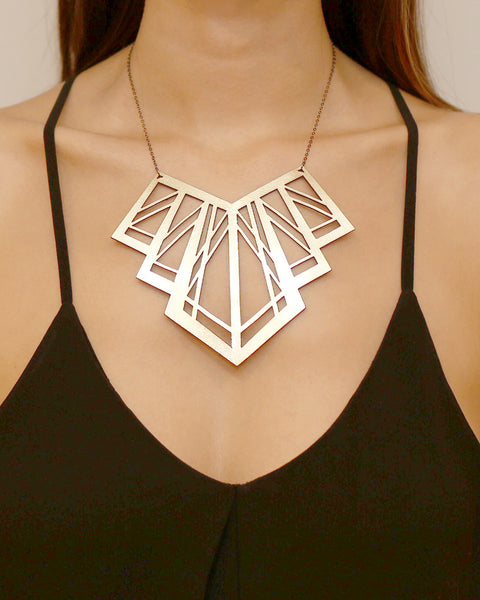 Art Deco Necklace Gold