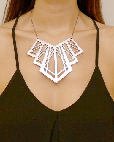 Art Deco Necklace Silver