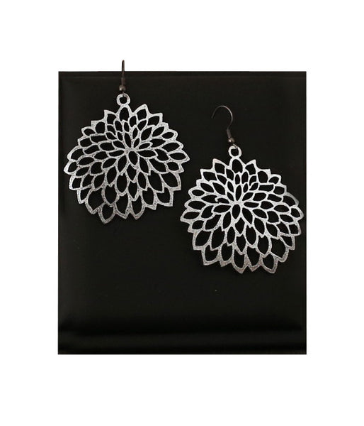 Camellia Earrings Silver