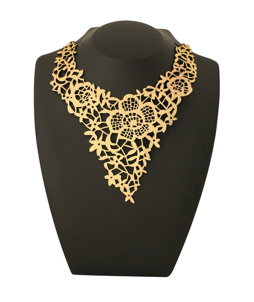 Chantilly Orchid Necklace Gold Doury