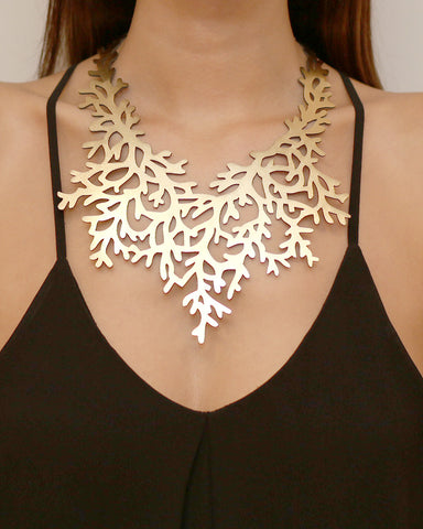 Coral Necklace Gold