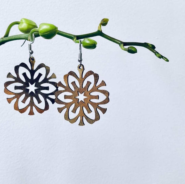 Snowflake Earrings Style 3 Gold