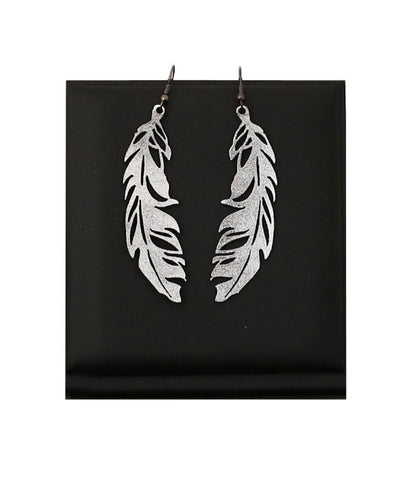 Feather Earrings Small Silver