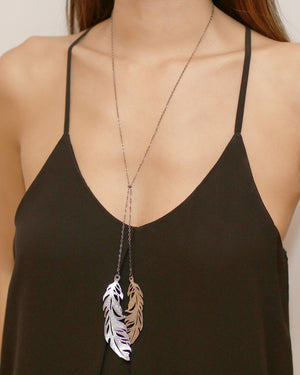Quill Leaf Necklace Silver