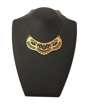 French Collar Necklace Gold
