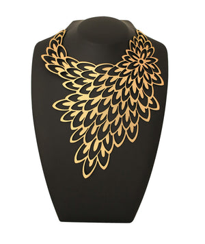 Peacock Necklace Gold
