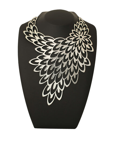 Peacock Necklace Silver