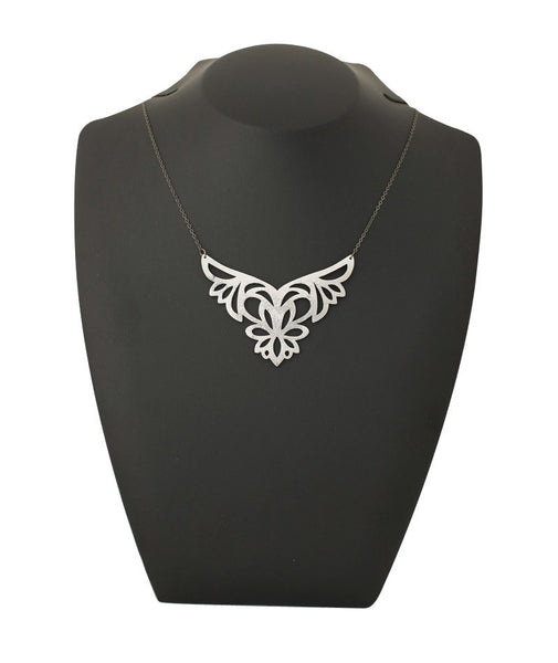 Rorscharch Necklace Silver