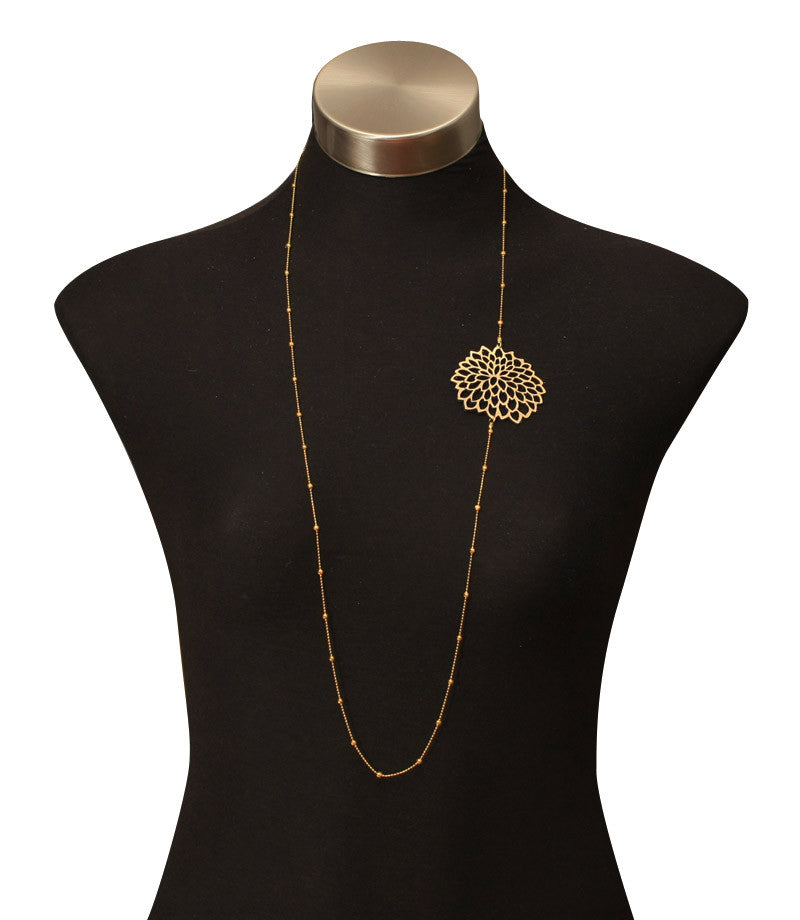 Single Daisy Chain Necklace Gold