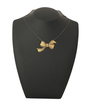 Sweetheart Bow Necklace Gold