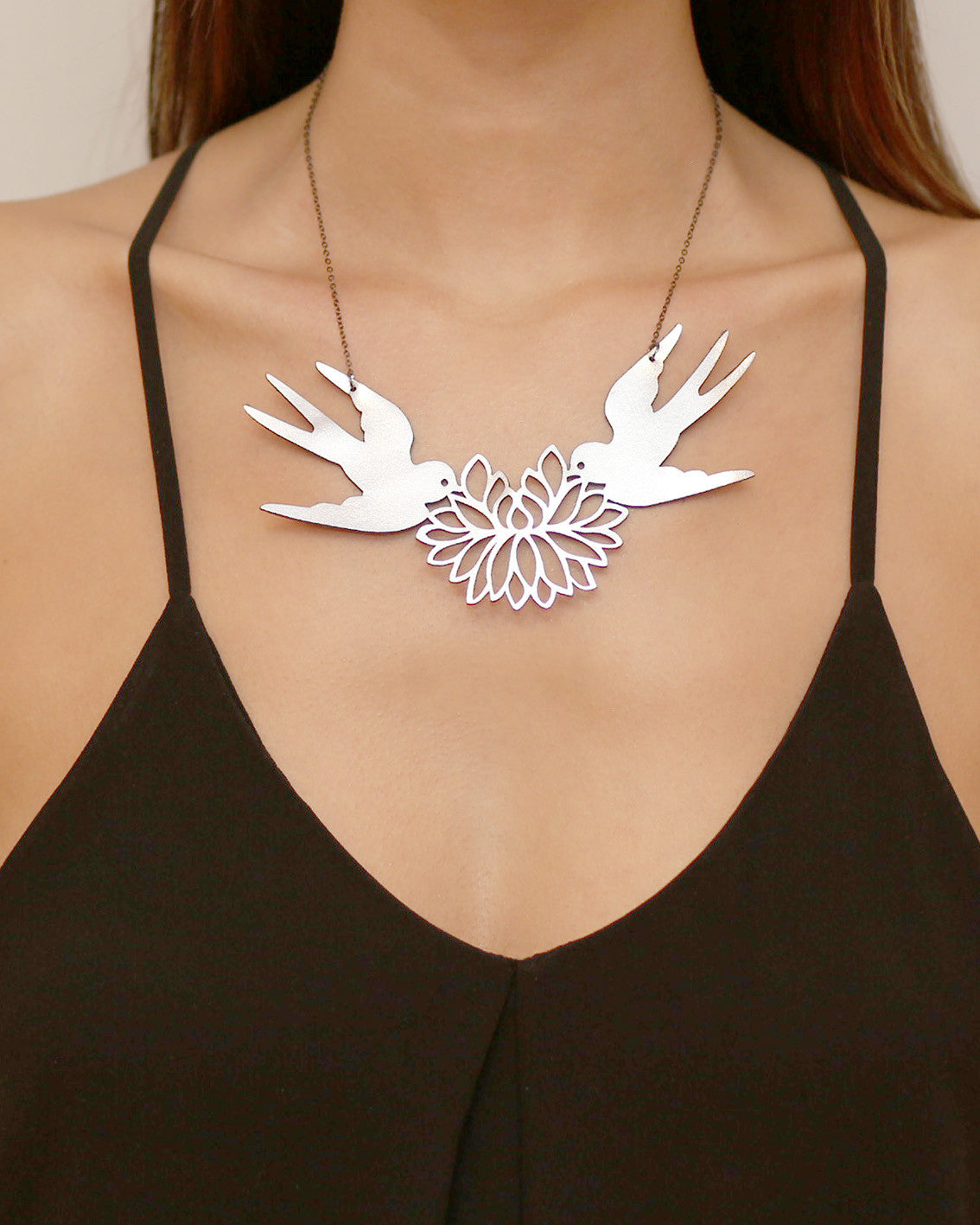 Turtle Doves Necklace Silver