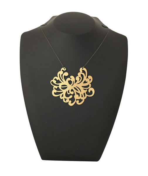 Water Blossom Necklace Gold
