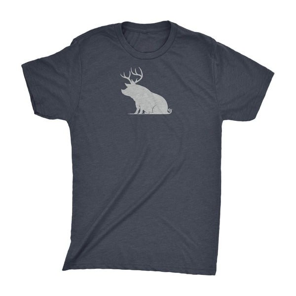 ANTLER PIG - VINTAGE NAVY HEATHER TEE