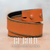 Orange Distressed Leather Belt