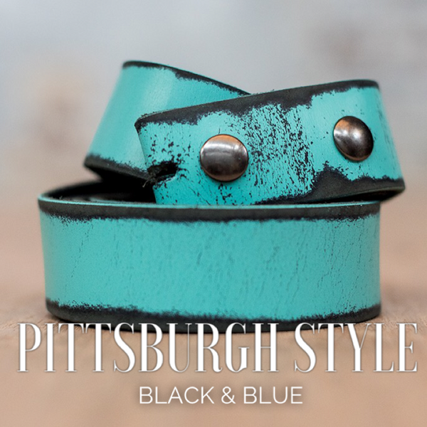 Turquoise Distressed Leather Belt