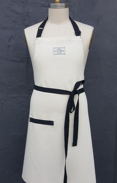 3 PACK SPECIAL - CREME (NATURAL) PREP APRON - CUSTOMIZABLE STRAPS