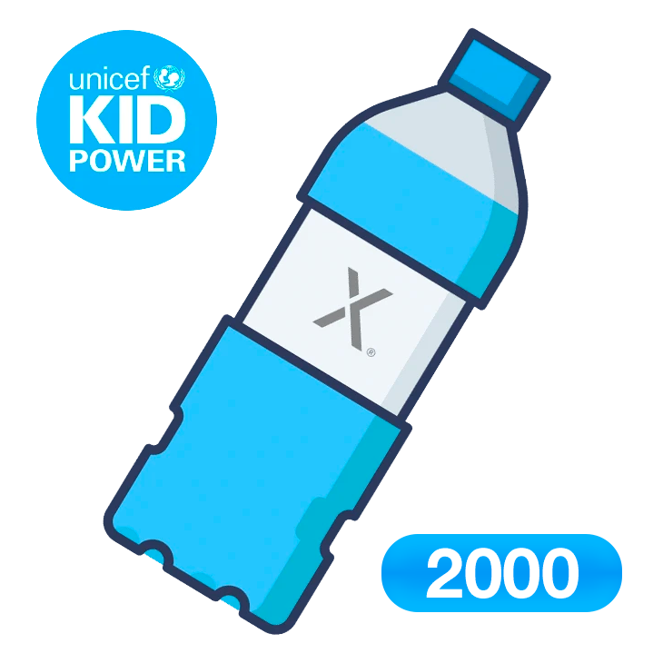 Donate 2000 bottles of clean water