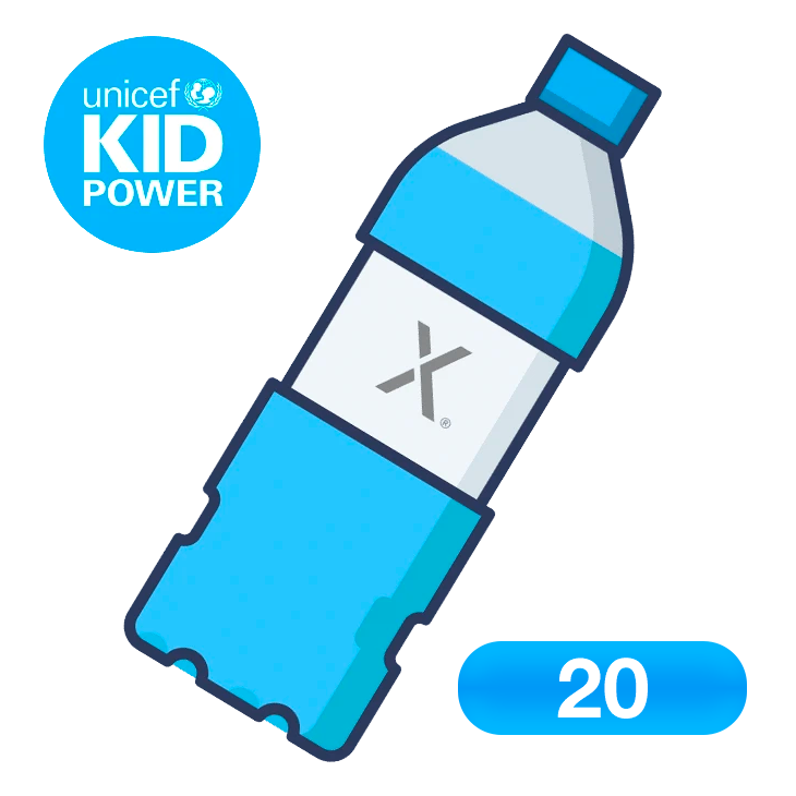 Donate 20 bottles of clean water