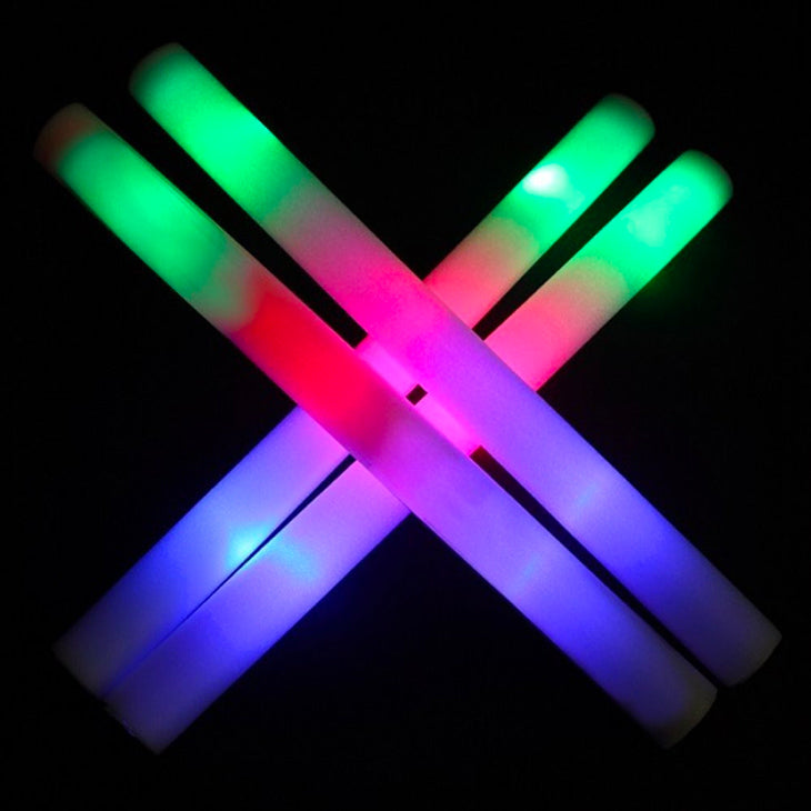 Pack of 12 LED Foam Party Sticks