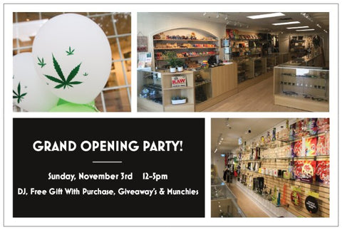 One Love Hemp Company Grand Opening Party Sunday November 3rd 12-5pm at 1449 Kingsway in Vancouver
