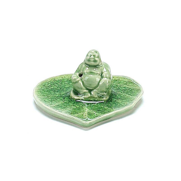 "4"" x 3"" Ceramic Incense Burner – Buddha"
