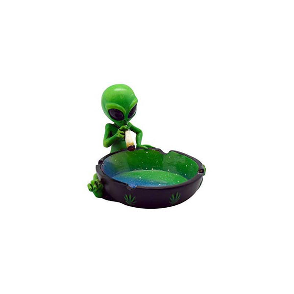 "Alien Sitting & Smoking Ashtray 4"" x 5"""