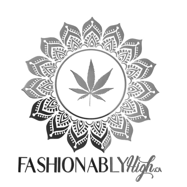 Fashionably High Silver Mandala Sticker