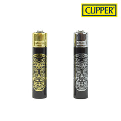 Clipper Metal Lighter-Mex Skull