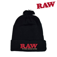 RAW Pompom Hat Black