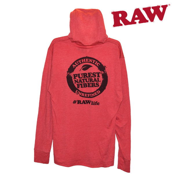 RAW Lightweight Hoodie in Red