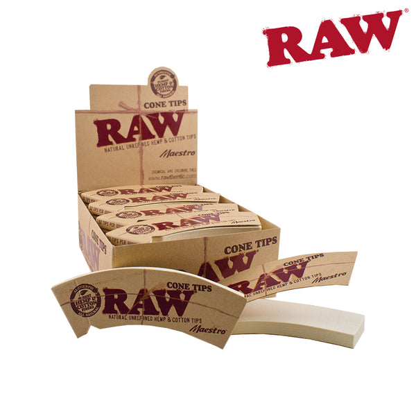 Raw Cone Tips. Pack of 32 Tips