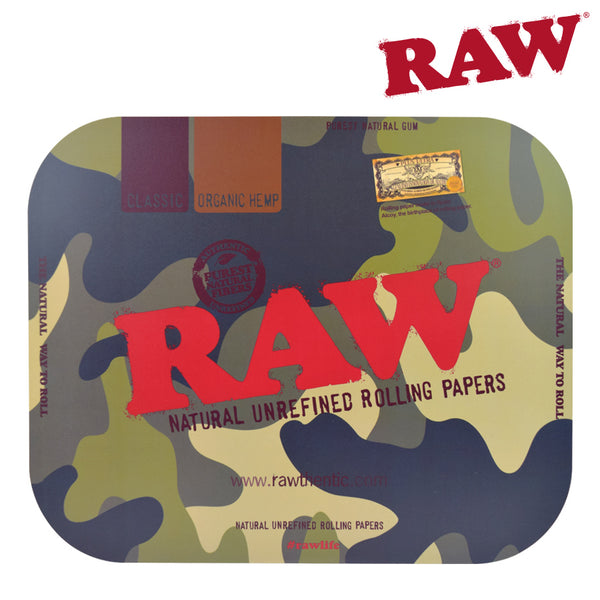 Raw Camo Rolling Tray Cover-Large
