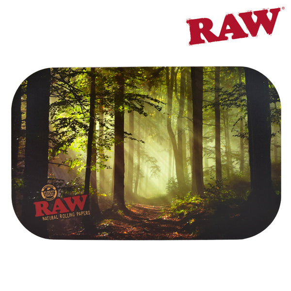 RAW Smokey Trees Rolling Tray Cover Size Small