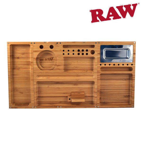 Bamboo Rolling Tray with 3 Detachable Pieces from Raw