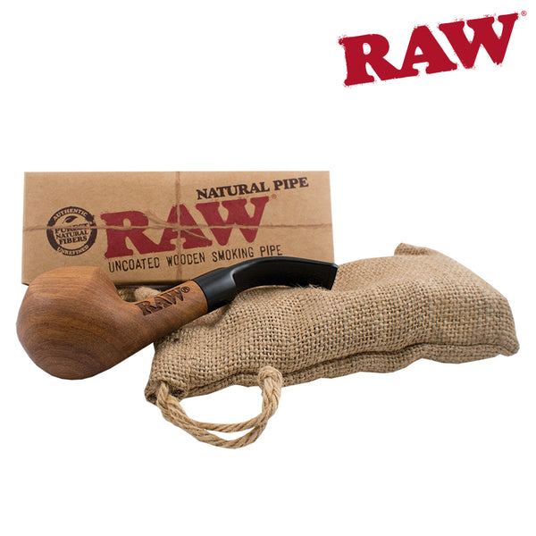 Wooden Pipe with RAW Logo
