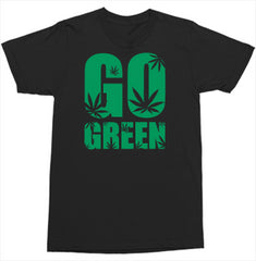 Unisex White Go Green Tee