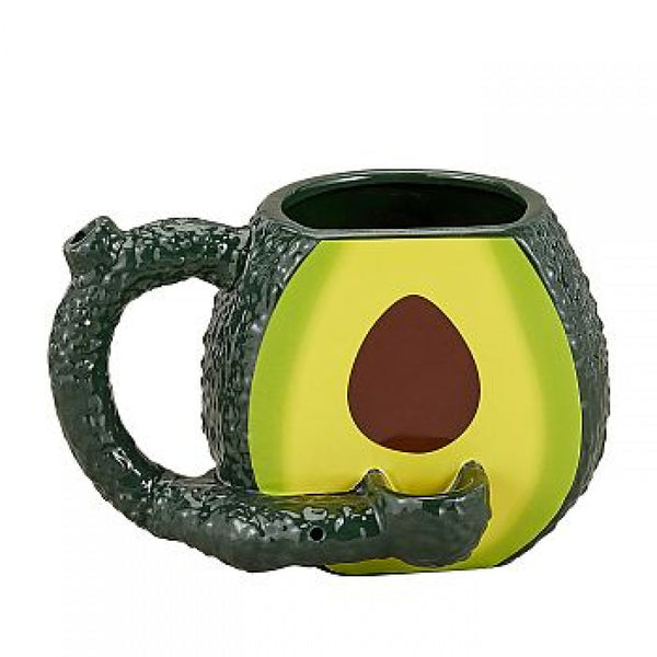 Mug pipe that looks like an avocado