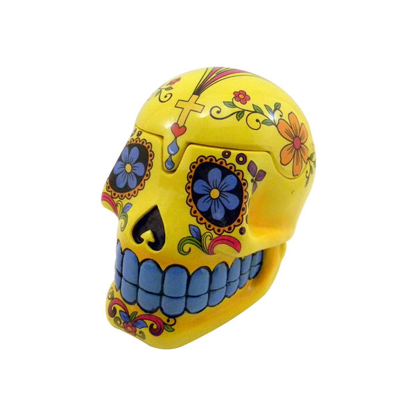 Day of the Dead Full Sugar w/Colour Box Skull Yellow